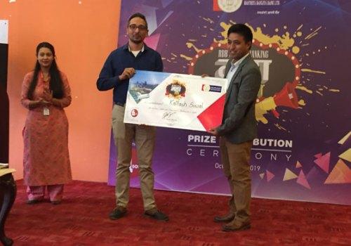 मोबाइल बैंकिङ्ग महा मेला योजनाका बिजेताहरुलाई राष्ट्रिय बाणिज्य बैंकद्धारा पुरस्कार बितरण