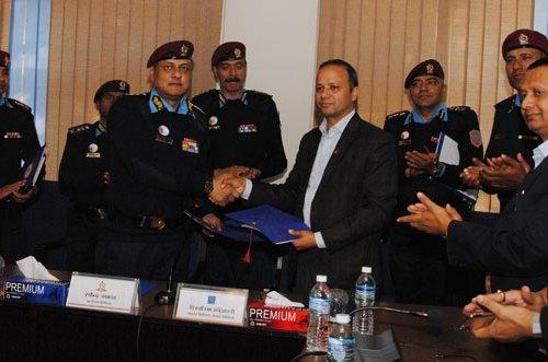 नेपाल टेलिकम नेपाल प्रहरी फुटबल टिमको मुख्य प्रायोजक, ३२ लाख रुपैयाँको प्रायोजन सम्झौता
