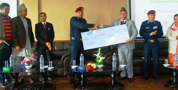 राष्ट्रिय वाणिज्य बैंकको सहयोगमा निर्मित नेपाल प्रहरी अस्पताल रक्त संचार केन्द्रको शुभारम्भ