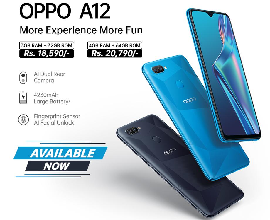 ओपोद्वारा एन्ट्रि लेभलको समार्टफोन ए१२ सार्वजनिक
