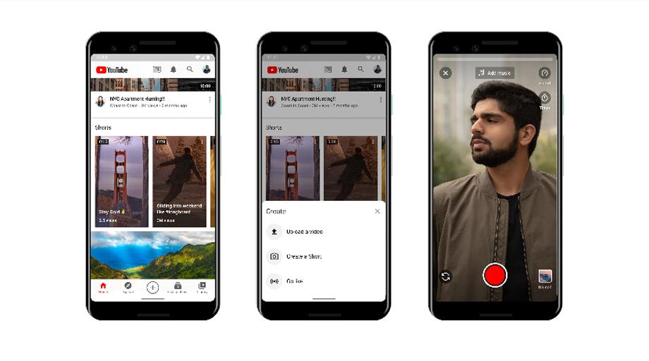 यूट्युबले ल्यायो टिकटक जस्तै १५ सेकेन्डको भिडियो शेयरिङ एप 'यूट्युब शर्ट्स'