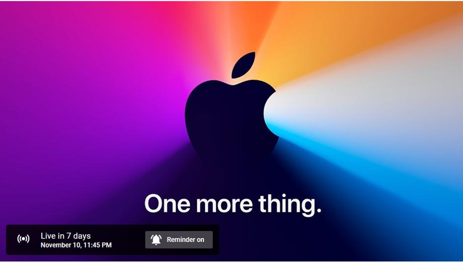 एप्पलको अर्को इभेन्ट नोभेम्बर १० तारिखमा, 'वन मोर थिङ्ग' ट्यागलाइनमा नयाँ डिभाइस