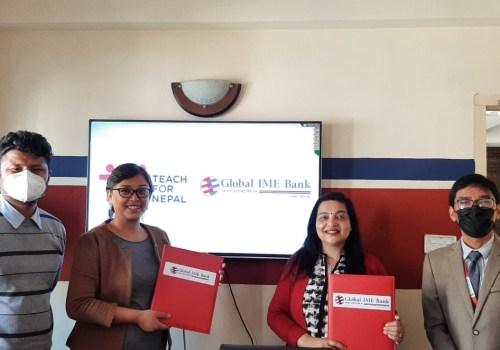 टिच फर नेपाललाई ग्लोबल आइएमई बैंकको ८ लाख सहयोग