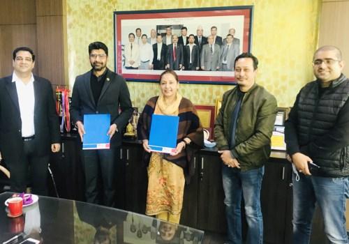जेसीबीको सहज फाइनान्सिङको लागि एमएडब्लु र मेगा बैंकबीच सम्झौता