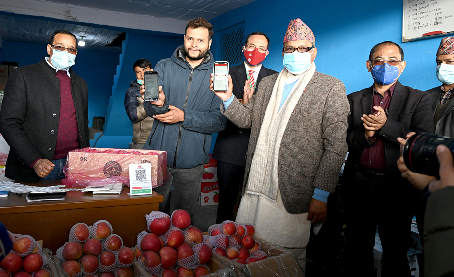 Nabil Bank inaugurates QR Payment Service in Kuleshwor Fruit Market