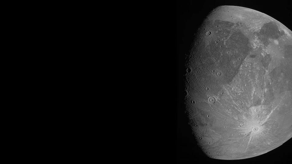 यस्तो छ बृहस्पति ग्रहको सबैभन्दा ठूलो चन्द्रमा ग्यानमिडको पहिलो तस्वीर