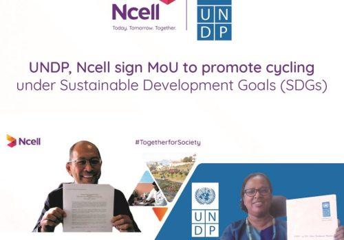 दिगो विकासका लागि नेपालमा यूएनडीपी र एनसेलको साझेदारी, साइकल यात्राको प्रवर्द्धन गरिने