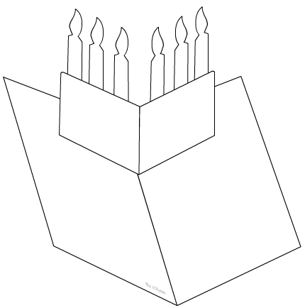 Candles Pop-up Greetings Card