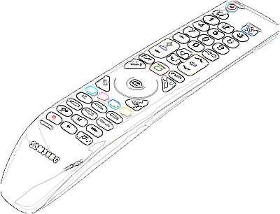Tv Remote Control Drawing Sketch Coloring Page