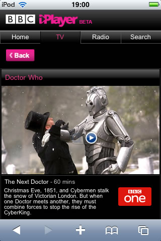 BBC iPlayer now working on iPhone