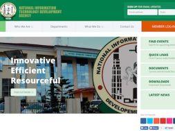Screenshot of the new NITDA website