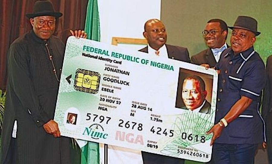 File photo shows the launch of the Nigeria National e-ID Card