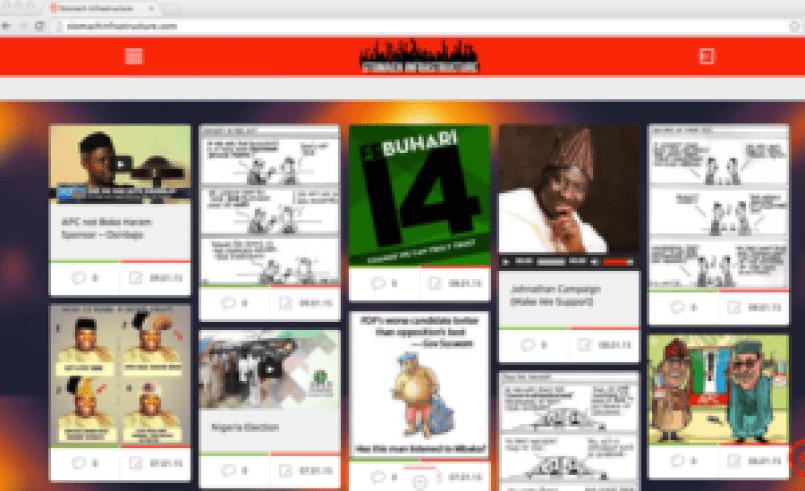Screenshot of Stomach Infrastructure website