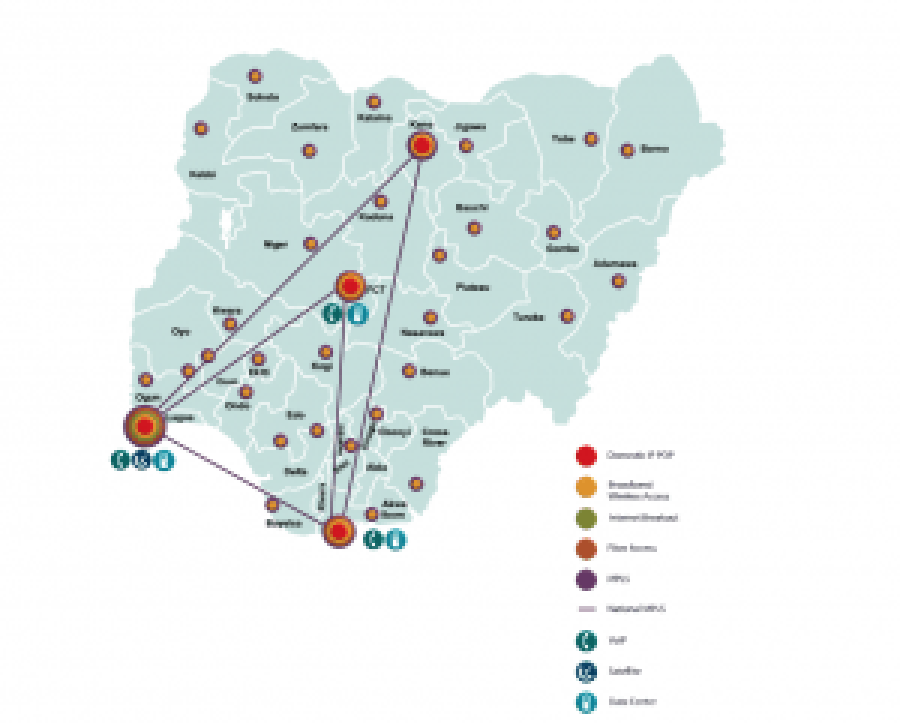 Pictured: Vodacom Business Nigeria network coverage