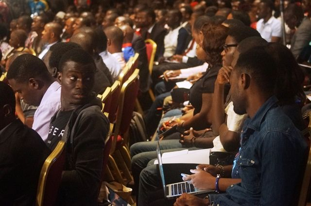 Cross section of attendees at TECH+