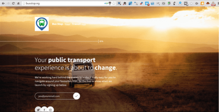 Bus Stop, due to be be launched soon by Nigerian start-up