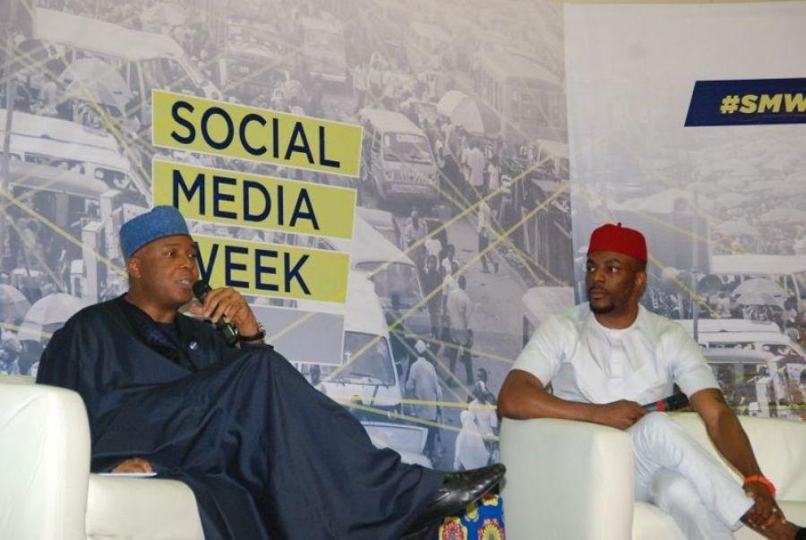 Senator Bukola Saraki in an interactive session at the Lagos social media week