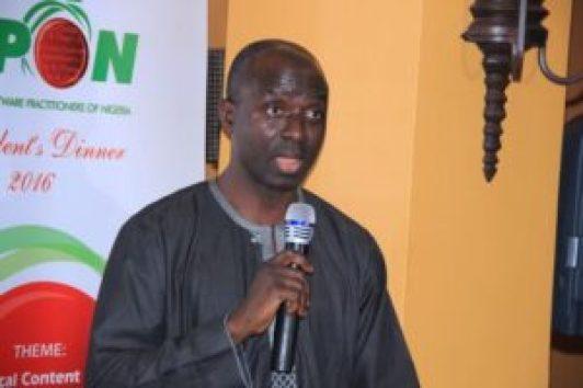 Mr Niyi Ajao representing Mr Folashodun Adebisi Shonubi,MD, Nigeria Inter-Bank Settlement Scheme(NIBSS)
