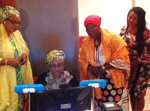 Aisha Buhari, wife of Nigeria's President undergoing ID enrollment in Abuja