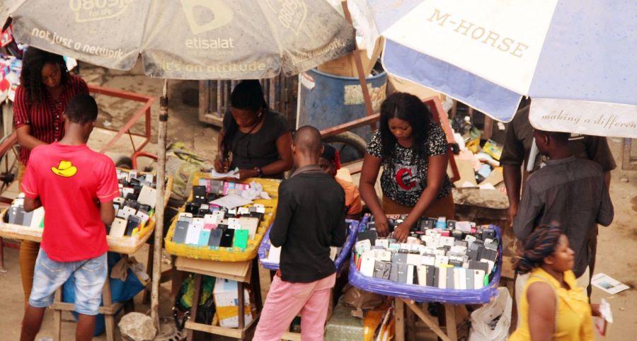 Business activities seen underway at Ikeja Computer Village, the biggest market cluster in Nigeria