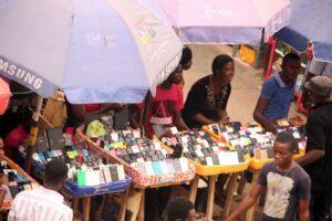 Vital learning tools: Mobile phones on display at Ikeja Computer Village in Lagos