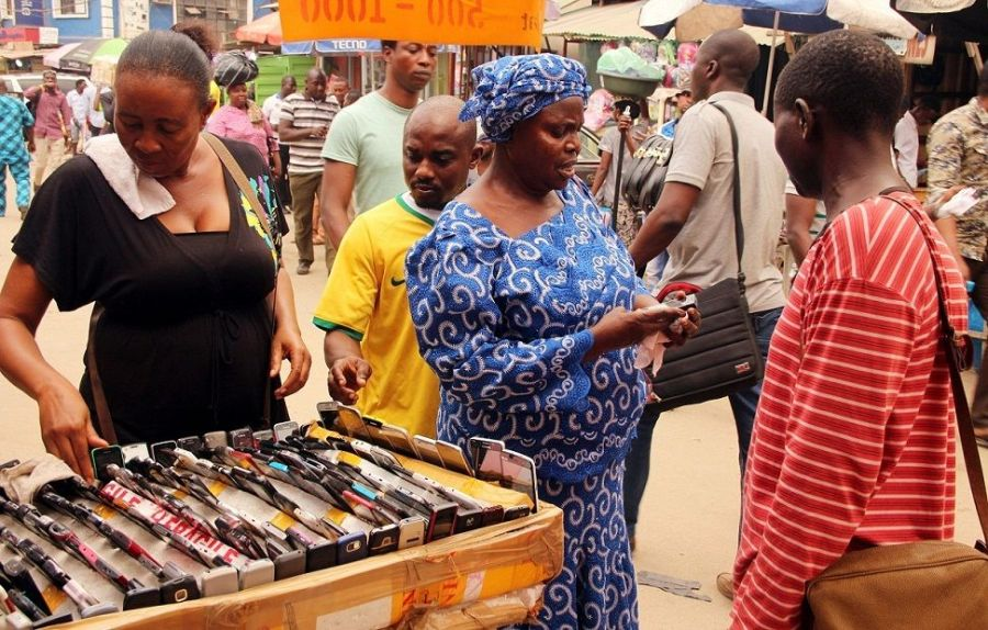 In search of locally-made IT and technology products: Business activities underway at Ikeja Computer Village, Nigeria's biggest technology market