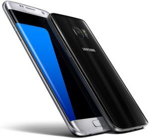 Front and back view of Samsung Galaxy 7