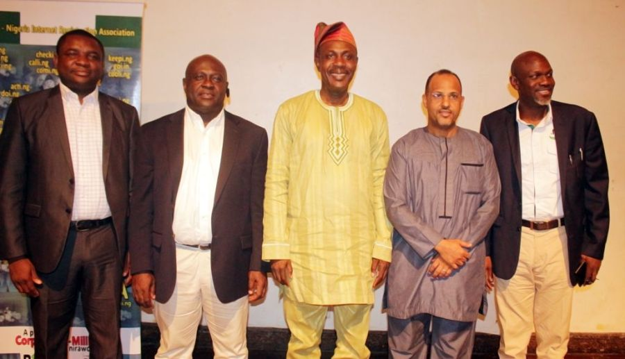 Mr Emmanuel Edet, Member Board of Trustees of NIRA, left; Deacon Chima Onyekwere; Reverend Sunday Folayan; President of NIRA; Mohammed Rudman, Vice President of NIRA and Mr Biyi Oladipo, Treasurer of NIRA all seen Saturday at the youth empowerment event organized by NIRA in Lagos.