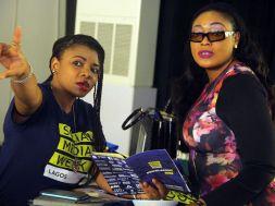 Tech-savvy: Female participants seen at 2016 Social Media Week Lagos