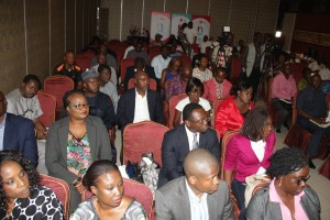 Cross section of attendees at the media briefing to announce rollout of commercial service of Ntel