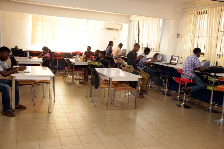 Cross section of developers at the iDEA Hub, Lagos.