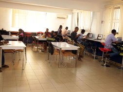 Technology Times file photo shows a cross section of developer at work inside IDEA Hub, Lagos