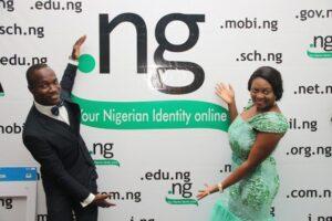 Participant at the .ng Gala and award night promoting the .ng brand