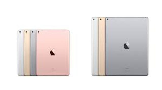 Back view of the new-9.7-inch-iPad-Pro-and-the-12.9-inch-iPad showing