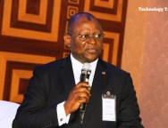 Adesola Adeduntan, Group Managing Director of First Bank speaking at the event