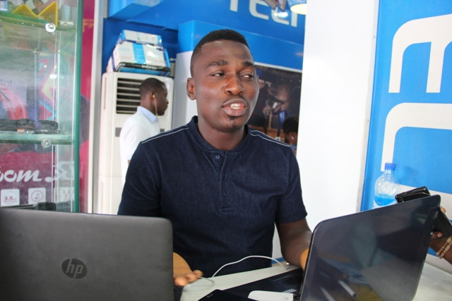 A business owner in computer village, Ikeja