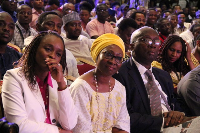 Dr Omobola Johnson, Chairperson of Alliance for Affordable Internet (left); Mrs Amina Oyagbola of MTN Nigeria and Dr Ernest Ndukwe, Chairman of Open Media and other attendees at #TechPlus2016
