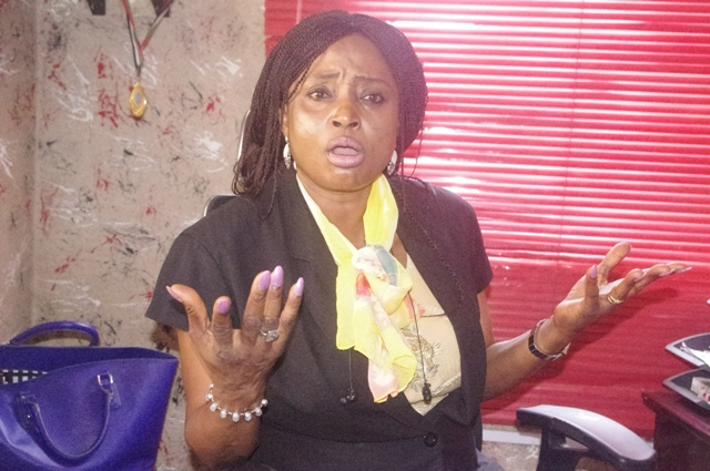 Photo files of Technology Times showing Mrs Adenike Shittu (Mojoy),who alleges manipulations and irregularities in the electoral process