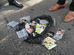 Pre-registered SIM cards found with the arrested persons
