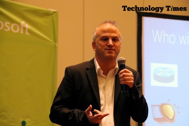 Dr Erdal Ozkaya Microsoft cyber security expert speaking at the Cybersecurity summit at the Eko Hotel and suite, Lagos.