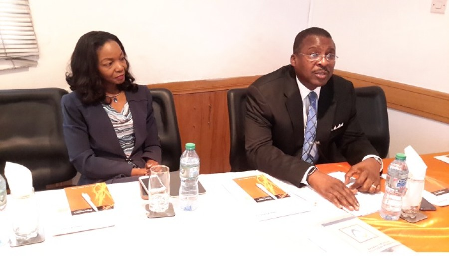 Mrs Doyin Odunfa MD Digital Jewels and ISSAN President Dr David Isiavwe at the meeting held in Lagos