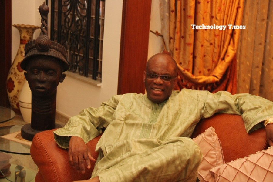 Mr Paul Usoro, Senior Advocate of Nigeria (SAN) and Senior Partner, at Paul Usoro & Co, (PUC), seen inside his home during the Technology Times interview, says the DML auction remains a watershed in Nigeria's communications landscape and history
