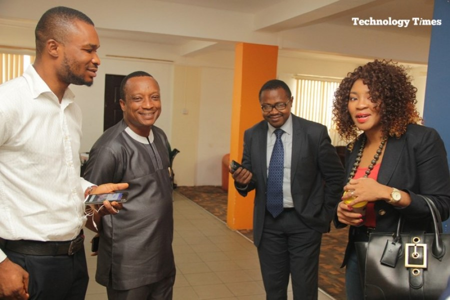 Mrs. Helen Anatogu, Chief Executive Officer of iDEA Hub, seen on the extreme right, shows visitors round the iDEA Hub premises in the photo showing from Mr Tunji Adeyinka, CEO of Connect Marketing; Founder, Technology Times, Mr Shina Badaru and Editorial Team Lead at Technology Times, Mr Kolade Akinola