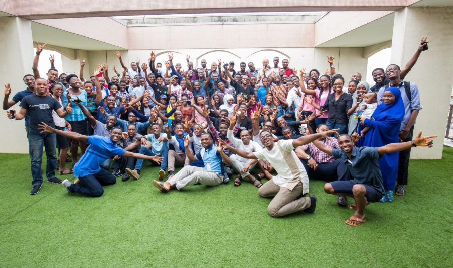 Andela team seen at an event. Andela, which has a Nigeria office, builds high-performing engineering teams with Africa's most talented software developers, and recently secured $40 million in Series C funding   Photo credit: Andela