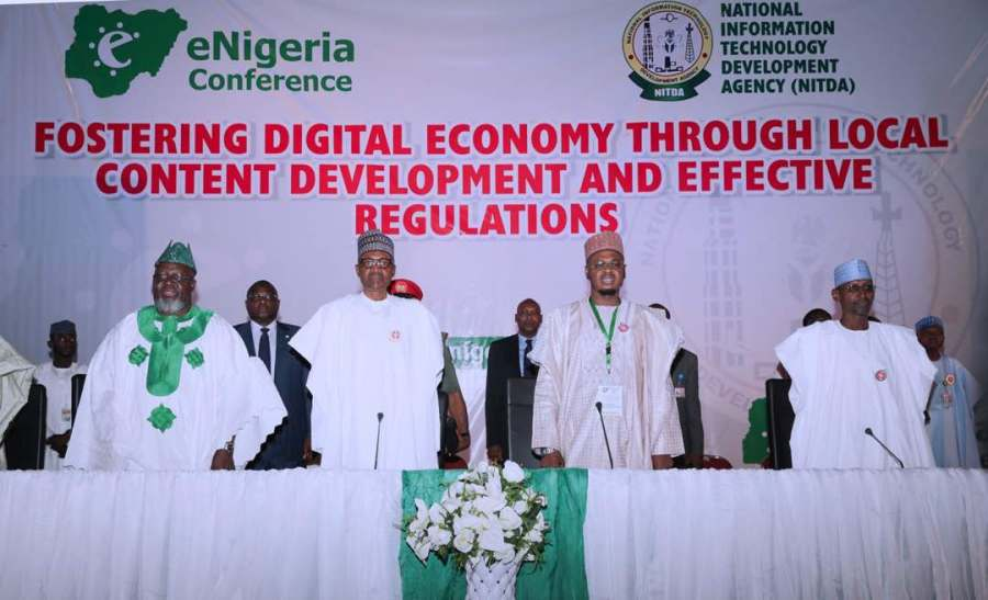 Cross section of activties at the event where President Muhammadu Buhari delivered this speech Tuesday November 7, 2017 at the opening of the 2017 eNigeria Conference organised by the National Information Technology Development Agency in Abuja.
