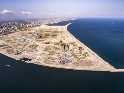 An aerial image of Eko Atlantic City