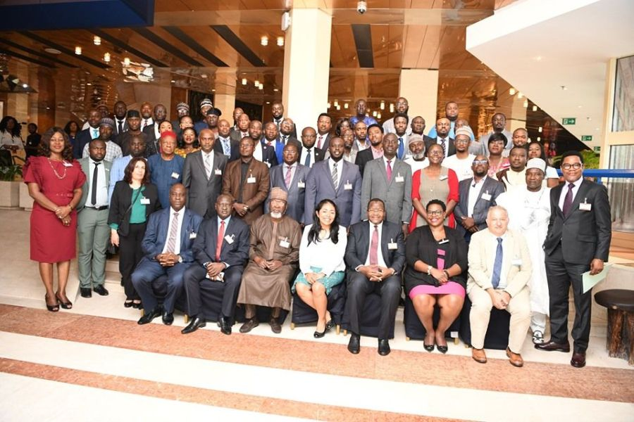 Cross section of attendees at the the international meeting of the International Telecommunications Union (ITU) hosted by the Commission at the Transcorp Hilton Hotel, Abuja.