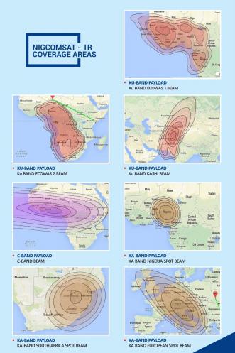 Nigcomsat Coverage Map