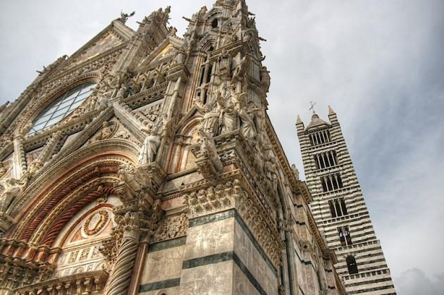 Siena Duomo Facade Detail, HDR