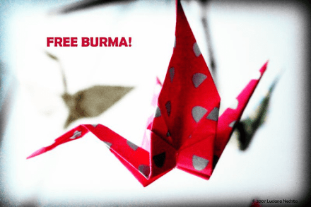 Free Burma - Image by Luciana Nechita from the Free Burma Flickr pool